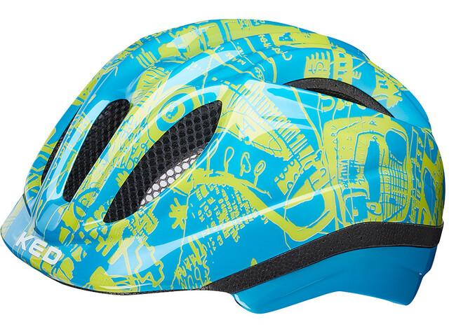 KED Meggy Trend Helmet Kids blue yellow